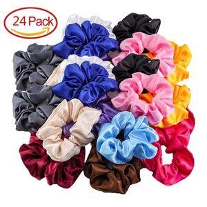 24Pcs/Lot Women Hair Scrunchies Elastic Hair Bands